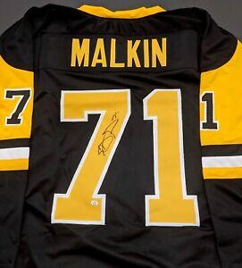 Evgeni Malkin Pittsburgh Penguins Autographed Signed Jersey XL COA