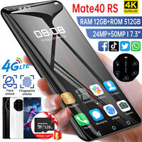 "4G Face ID 7.3"" Android 10.0 Unlocked Dual SIM 12+512GB&128GB TF Card SmartPhone"