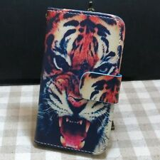 1x Cool Tiger Rabbit Cat Design Wallet Kickstand Flip case cover for LG Phone