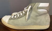 Alexander McQueen Grey Suede Leather High Top Trainers Size 44 UK 9.5 Sneakers