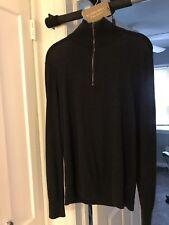 Burberry Quarter Zip Cashmere Sweater Size S