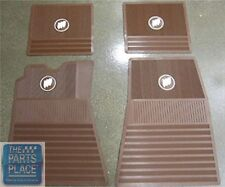 61-75 Buick Skylark / GS / Wildcat / Electra - 4 Rubber Floor Mats Set - Brown