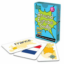 Around Europe Snap and Pairs Cards Game - Educational Game for Children 7+ Years