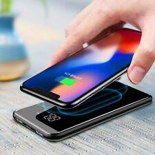 Qi Induktive Ladestation Ladegerät 8000mAh Powerbank für iPhone XS XR XS MAX