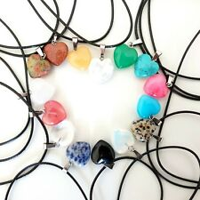 Love Heart Chakra Necklace Quartz Reiki Crystal Healing Point Cut Pendant Yoga