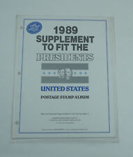 New CWS Stamp Album Pages 1989 Supplement Fit The Presidents Postage Stamp Album