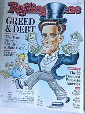 Rolling Stone Magazine Mitt Romney & Bain Capital September 13, 2012 062117nonrh