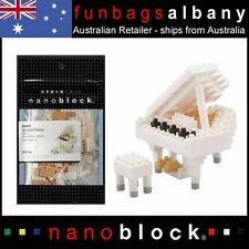 Nanoblock Grand Piano White micro sized building blocks Nano mini musical series