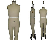 Professional Pro Male Working dress form,Mannequin,Full Size 40, w/Legs