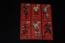 LOT (6) 1994 PARKHURST TALL BOYS RED WINGS REPRINTS SIGNED AUTOGRAPHED CARDS