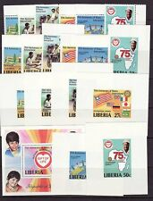 Liberia # 860-66 MNH Perf + Impf + Deluxe Sheets Rotary