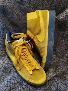 Nike Blazer 77 High Top 306449-774 suede yellow blue MENS SIZE 11 2008