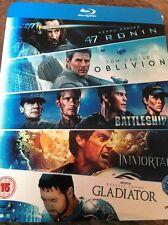 Oblivion/Battleship/Immortals/Gladiator/47 Ronin (5 Movies Blu-ray Set)