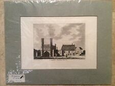 """Hand Colored 1770s Engraving """" Canterbury St Augustine Monastery pl1 Kent"""" UK"""