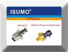 2 Pcs EGR Valve & EGR Valve Pressure Feedback Sensor Fits Ford 6.0L.Diesel 03-05