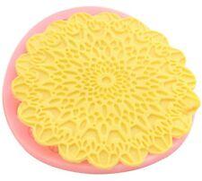 Sunburst Round Lace Impression Silicone Mold