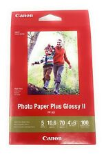 "Canon Photo Paper Plus Glossy II ,4"" x 6"" Inkjet Printer Paper, 100 sheets pack"