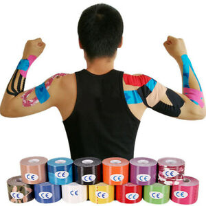 2.5cm*5M One Roll Elastic Kinesiology Sports Tape Muscle Pain Care Therapeutic