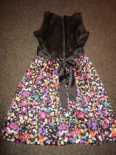 BNWT £38 Miss Selfridge Dress UK 8 Black Multi Skirt Floral Pattern 2 in 1 Party