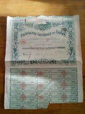 ACTION de 500Fr  (1920) Compagnie générale des tabacs