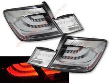 Set of 4pcs Chrome Clear LED Taillights for 2013-2015 Honda Civic 4dr Sedan