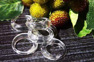 Clear cocktail lucite rezin plastic ring. Size 6.5, 8, 9.