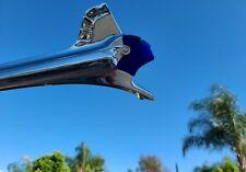 1951 PONTIAC INSERT FOR HOOD ORNAMENT CHIEFTAIN TINTED DARK BLUE