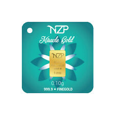 Goldbarren 0,10 Gramm NZP Gold (999,9 Gold Barren 0,1g 0,10g)NEU