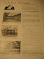 Berlin Firma:ED.Puls,Kunstschmiede Werbeblatt 1944/48.Advertising 1944 Berlin