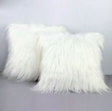 White Pillow Case White Fur Cushion Cover One Side 45*45cm Throw Pillow Case