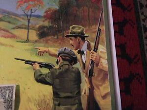 Winchester shotgun shells advertising poster display