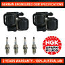4x Genuine NGK Iridium Spark Plugs & 2x Ignition Coils for Mercedes Benz B200T