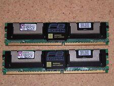 Used 2 Kingston KVR667D2D8F5/1GI 1GB (Total 2GB) DDR2-667 FB-DIMM ECC Server RAM