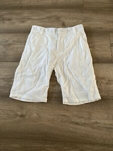 Next Boys White Flax Short Trouser Size 9 Years 134cm Height