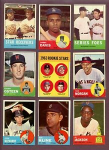1963 Topps Baseball terminar su conjunto Pick 10 tarjetas ex-Mt a casi como nuevo revisado