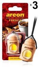 X 3 Areon Fresco Café Coche Aroma Perfume Árbol Ambientador Casa Oficina