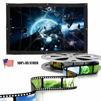150inch Portable Foldable Projector Screen 16:9 HD Home Theater Outdoor 3D Movie