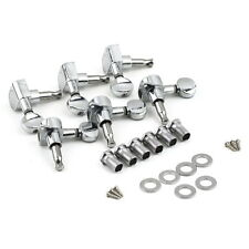 New Chrome Inline Guitar String Tuning Pegs Tuners Machine Head 3 Left 3 Right Z