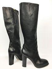 Alberto Fermani Women's Black Leather Tall Heeled Boots sz: 40.5 US 10.5 - $795