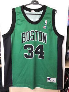 Rare Vintage 90s Champion NBA Boston Celtics Paul Pierce 34 Jersey Xl