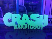 GitD Crash Bandicoot Display Sign