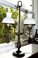 MADE IN CZECHOSLOVAKIA VINTAGE EUROPEAN LAMP WITH CRYSTAL SHADES