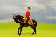 VINTAGE - MOUNTED ROYAL ON HORSEBACK *RARE* LEAD FIGURE *BRITAINS SCALE* (193)