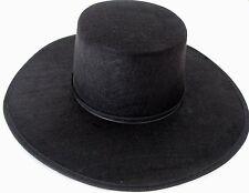 Black Spanish Hat Zorro Costume Accessory Dura Felt Prop Adult Vendetta Gaucho