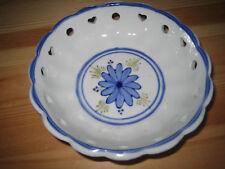 Porzellan-Keramikschlae weiß-blau gemustert Durchmesser: ca. 14 cm  Höhe: ca.3,6