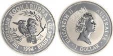 Australien 1 Dollar Silber, 1 Unze, 1994 Kookaburra prägefrisch, verkapselt