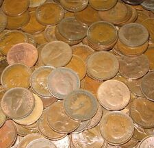 25 FARTHINGS BULK LOT OF OLD ENGLISH COINS 1900-1956