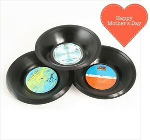 Mothers Day Gift Idea Bowl Novelty Dish Design Food Kitchen Storage Retro Vinyl
