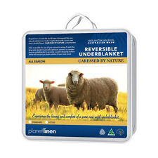 Double Bed Size 100% Premium Australian Wool Underblanket Underlay Topper NEW