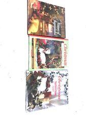 Set of 3 Christmas Books Southern Country Living 1990's Hardbacks